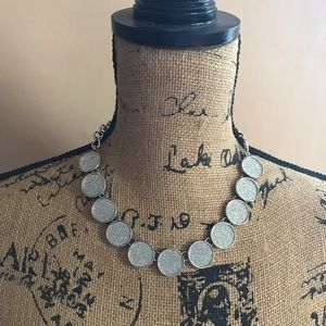 New York & Co Silver, Glittery Statement Necklace